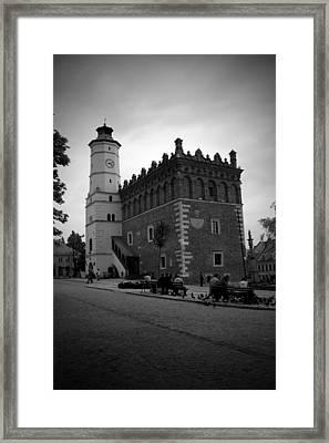 Sandomierz Bw Framed Print by Kamil Swiatek