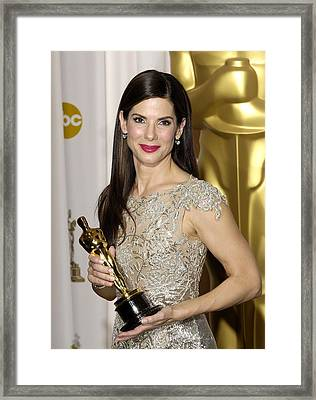 Sandra Bullock, Best Performance By An Framed Print by Everett