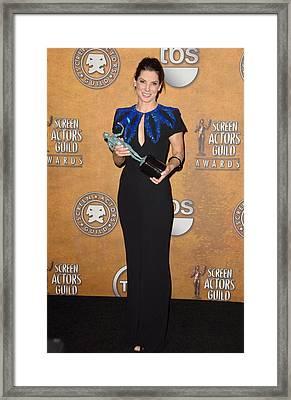 Sandra Bullock In The Press Room Framed Print by Everett