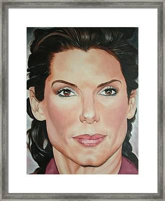 Sandra Bullock Framed Print by Timothe Winstead