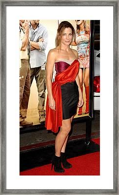 Sandra Bullock Wearing A Lanvin Dress Framed Print by Everett