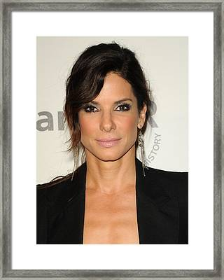 Sandra Bullock Wearing Irit Design Framed Print by Everett