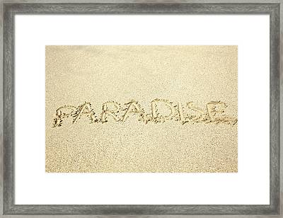 Sandy Paradise Framed Print by Kicka Witte