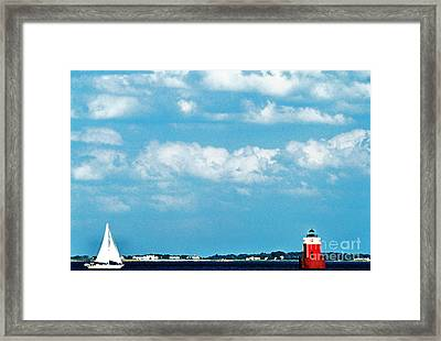 Sandy Point Shoal Lighthouse Framed Print by Thomas R Fletcher
