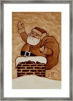 Santa Claus Is Coming Framed Print by Georgeta  Blanaru