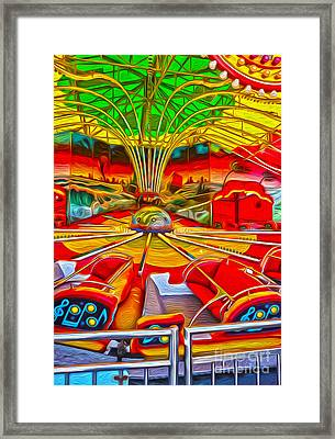 Santa Cruz Boardwalk - That Ride That Makes You Sick Framed Print by Gregory Dyer