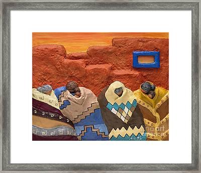 Santa Fe Dreaming Framed Print by Anne Klar