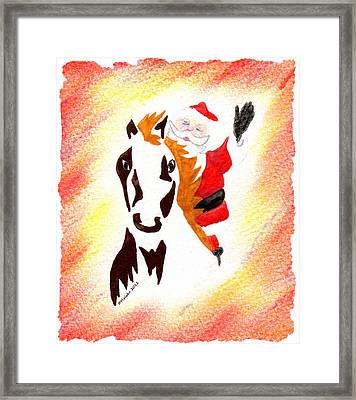 Santa Is Coming To Town Framed Print by Mark Schutter