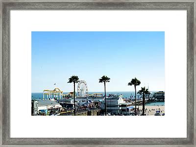 Santa Monica Pier Framed Print by Malania Hammer