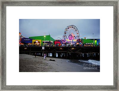 Santa Monica Pier May 12 2012 Framed Print by Clayton Bruster