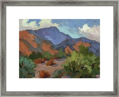 Santa Rosa Mountains Framed Print by Diane McClary