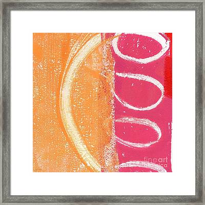 Sante Fe Sunrise Framed Print by Linda Woods