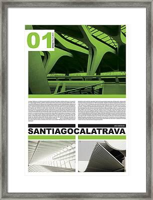 Santiago Calatrava Poster Framed Print by Naxart Studio