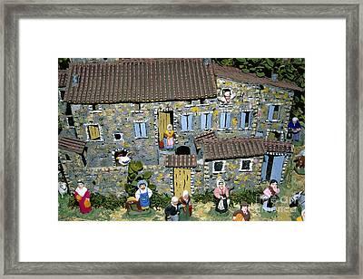 Santons. Provence Framed Print by Bernard Jaubert