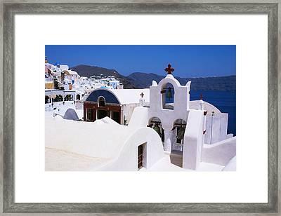 Santorini Architecture Framed Print by Paul Cowan