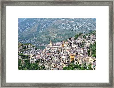 Saorge Village Framed Print by Sami Sarkis