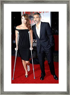 Sarah Larsen, George Clooney Framed Print by Everett