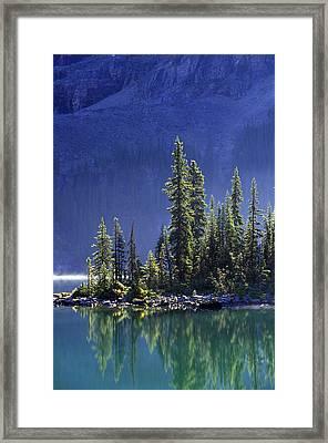 Sargents Point, Lake Ohara, Yoho Framed Print by John Sylvester