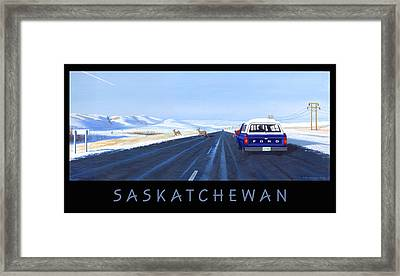Saskatchewan Beauty Poster Framed Print by Neil Woodward