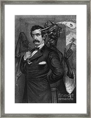 Satan Tempting John Wilkes Booth Framed Print by Photo Researchers