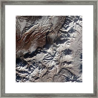 Satellite Image Of Russias Kizimen Framed Print by Stocktrek Images