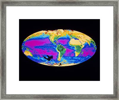 Satellite Image Of The Earth's Biosphere Framed Print by Dr Gene Feldman, Nasa Gsfc