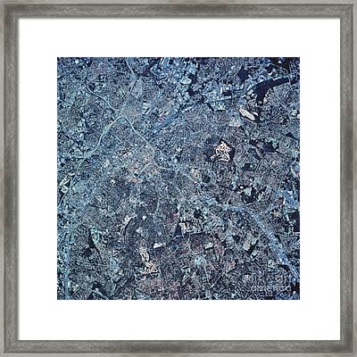 Satellite View Of Charlotte, North Framed Print by Stocktrek Images