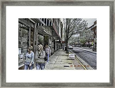 Saturday Down Town Framed Print by Mike Waddell