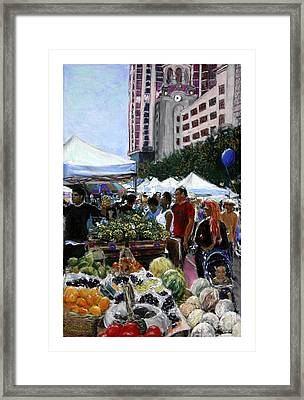 Saturday Morning Market Framed Print by Barry Rothstein