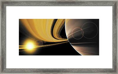 Saturn Glory Framed Print by Don Dixon