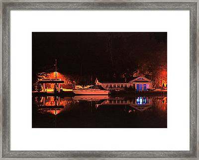 Saugatuck Chain Ferry Framed Print by James Rasmusson