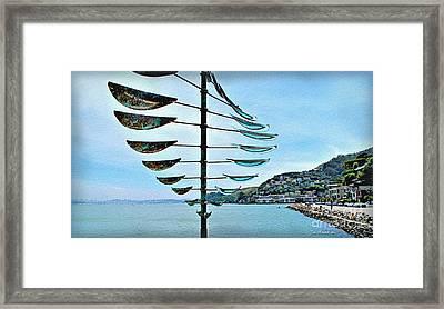Sausalito Coast Framed Print by Joan  Minchak