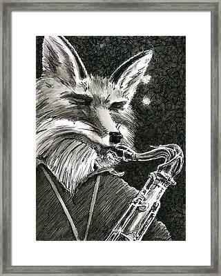 Sax Fox Framed Print by Scott Alberts