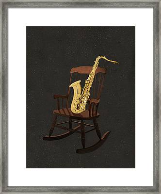 Sax Rocks Framed Print by Eric Kempson