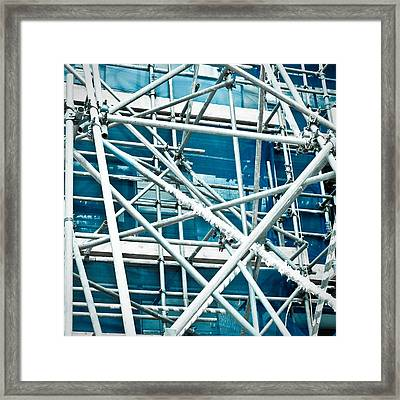 Scaffodling Framed Print by Tom Gowanlock