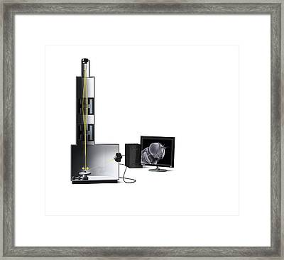 Scanning Electron Microscope, Artwork Framed Print by Claus Lunau