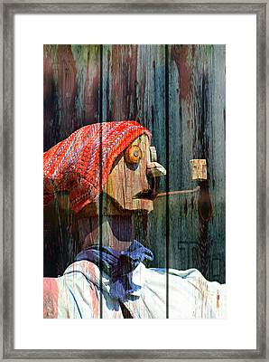 Scarecrow 1 Framed Print by Marty Koch