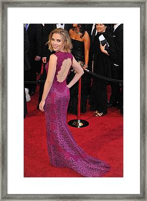 Scarlett Johansson Wearing Dolce & Framed Print by Everett