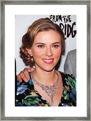 Scarlett Johansson Wearing Van Cleef & Framed Print by Everett