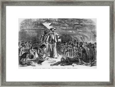 Scene In The Hold Of The Blood-stained Framed Print by Everett
