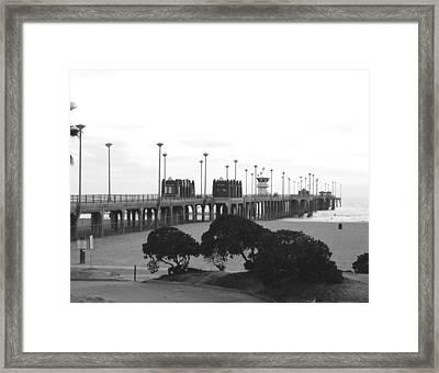 Scenes Of Los Angeles, Huntington Beach Framed Print by Everett