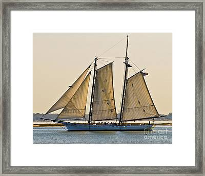 Scenic Schooner Framed Print by Al Powell Photography USA