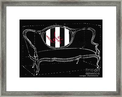 Schematic Love Juvenile Licensing Framed Print by Anahi DeCanio