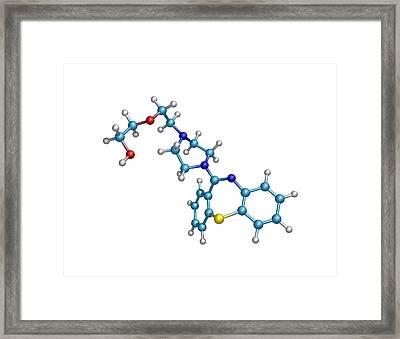 Schizophrenia Drug Molecule Framed Print by Dr Tim Evans