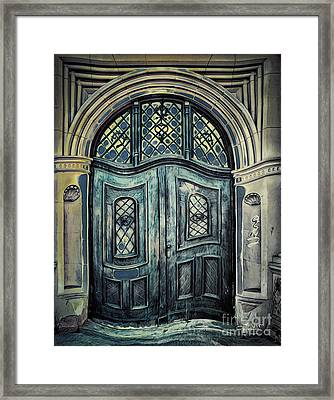 Schoolhouse Entrance Framed Print by Jutta Maria Pusl