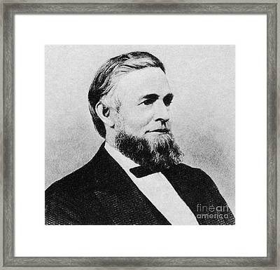 Schuyler Colfax Framed Print by Photo Researchers