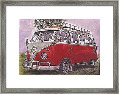 Scoobie Split Framed Print by Sharon Poulton