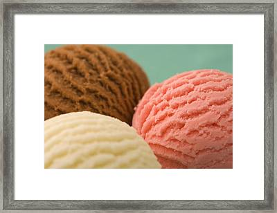 Scoops Of Ice Cream Framed Print by Ross Durant Photography