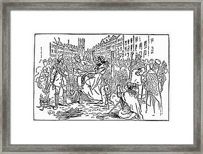 Scotland: Witch Burning Framed Print by Granger