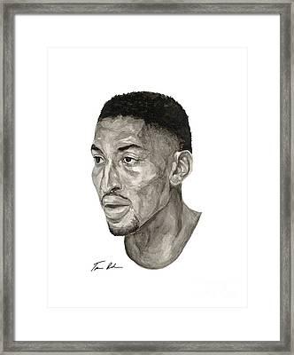 Scottie Pippen Framed Print by Tamir Barkan